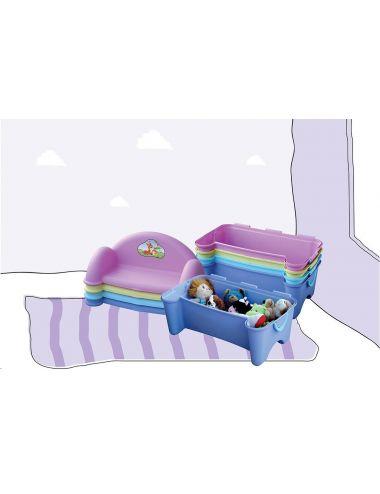 PalPlay Skrzynia na Zabawki Ławeczka M379