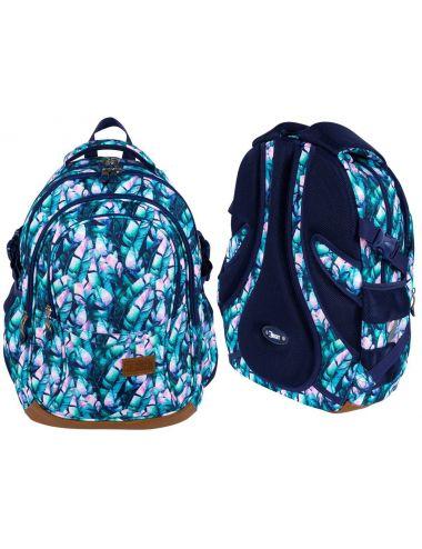 ST.RIGHT Plecak szkolny Błękitne liście 4-komorowy BP1