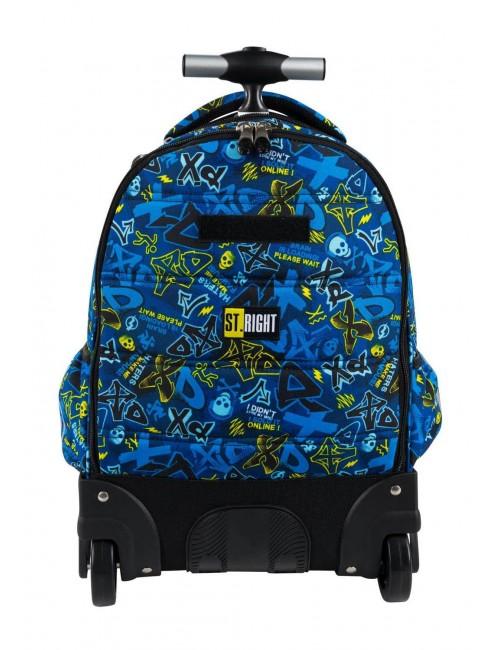 ST.RIGHT Plecak na kółkach XD ART TB1 szkolny tył