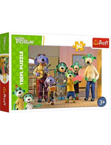 Trefl Puzzle Wesoły Dzień 30 Elementów Rodzinka Treflików