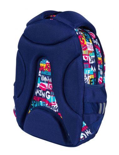 ST.RIGHT Slogan Plecak szkolny 4-komorowy BP6 tył