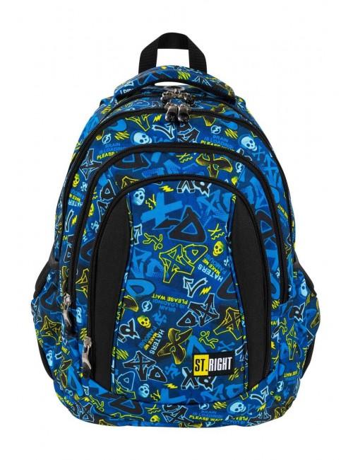 ST.RIGHT XD Art plecak szkolny 4-komorowy BP4 przód