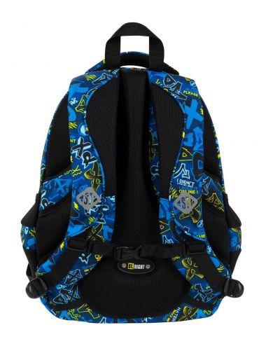 ST.RIGHT XD Art plecak szkolny 4-komorowy BP4 tył