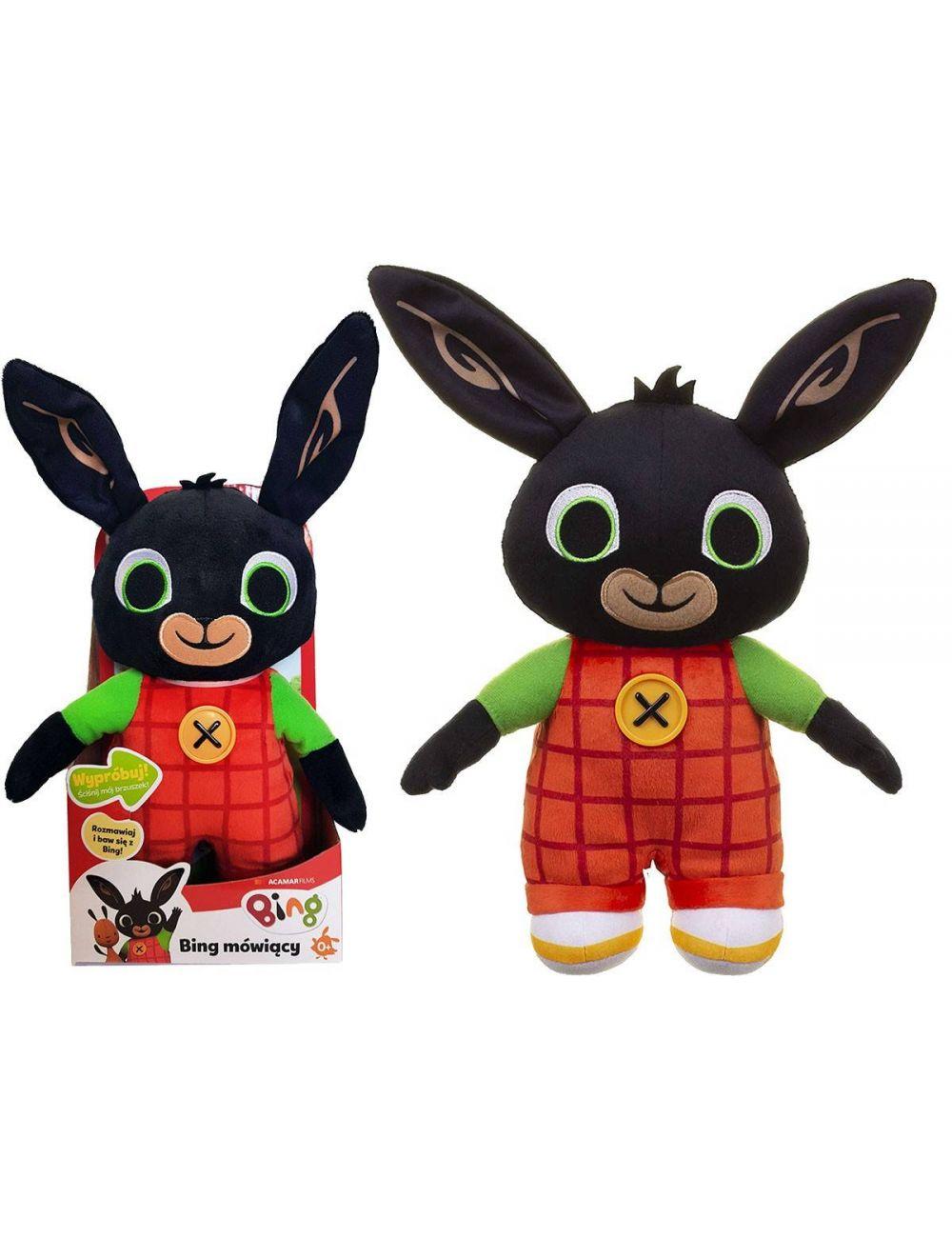 BING Mówiący królik pluszowy maskotka 30cm PL