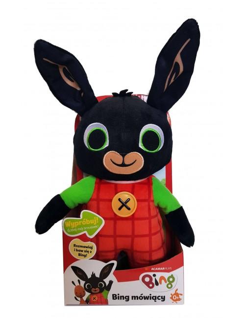 BING Mówiący królik pluszowy maskotka 30cm wersja polska w pudełku