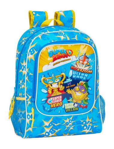 Super Zings plecak szkolny dla dzieci 42 CM niebieski przód