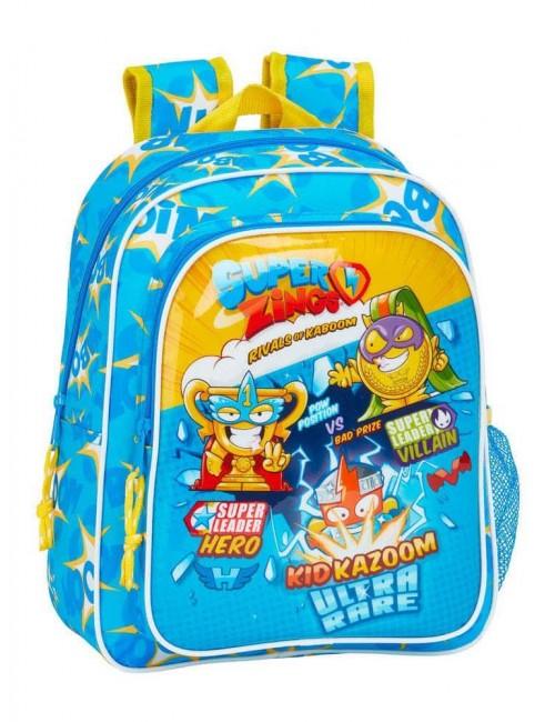 Super Zings plecak szkolny dla dzieci 34 CM niebieski przód