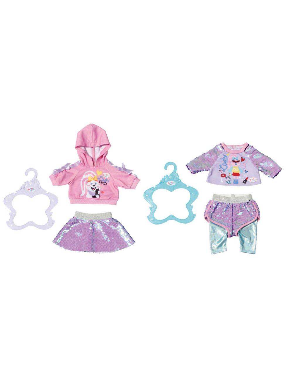 BABY BORN Bluza i spodnie spódniczka w cekiny 828182
