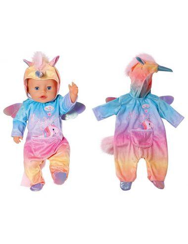 Baby Born tęczowa piżama jednorożec ubranko 828205