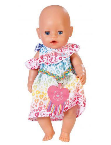 BABY BORN tęczowa sukienka kolorowa 829219