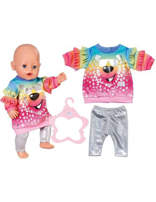 BABY BORN Tęczowa bluzka i legginsy ubranko 829226