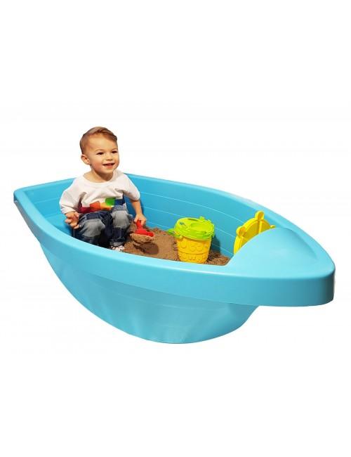 PalPlay Piaskownica łódź łódka niebieska M311 dziecko bawi się