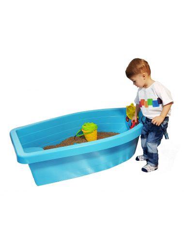 PalPlay Piaskownica łódź łódka niebieska M311 dziecko bawi się przy piaskownicy