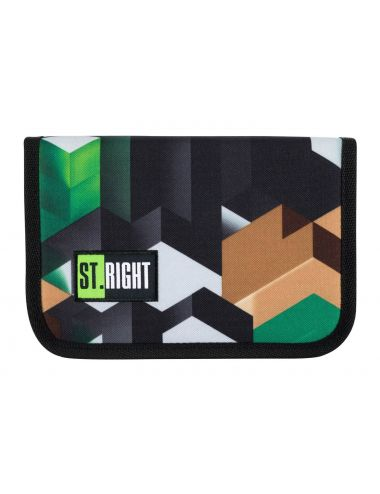 ST.RIGHT Piórnik dwuklapkowy Zielone Klocki PC3