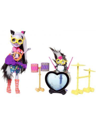 Enchantimals Rockowy Koncert Lalka Sage i Skunks Caper FRH41