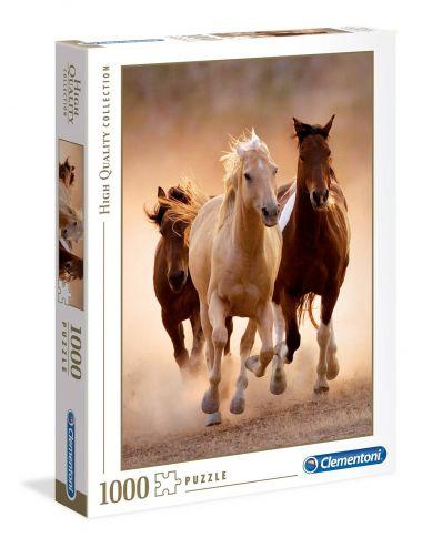 Clementoni Puzzle 1000el Running Horses 39168