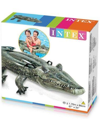 INTEX Materac do pływania aligator 170x86cm