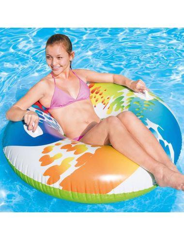 INTEX Koło do pływania z uchwytami 122 cm