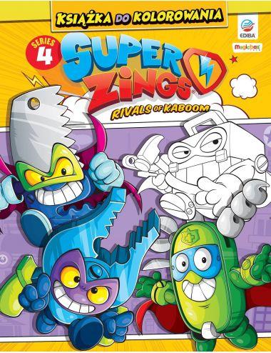 Super Zings Książka do kolorowania i trzy figurki