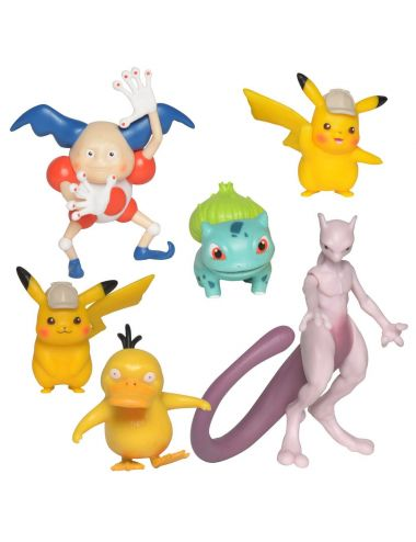 POKEMON 6 Figurek Multipack Detektyw Pikachu