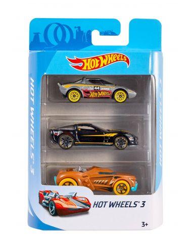 Hot Wheels zestaw 3 pojazdy auta K5904