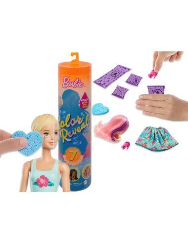 Barbie Lalka Kolorowa Niespodzianka w Tubie S3 Mattel GTP42