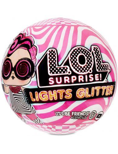 LOL Lights Glitter laleczka świecąca w kuli Surprise