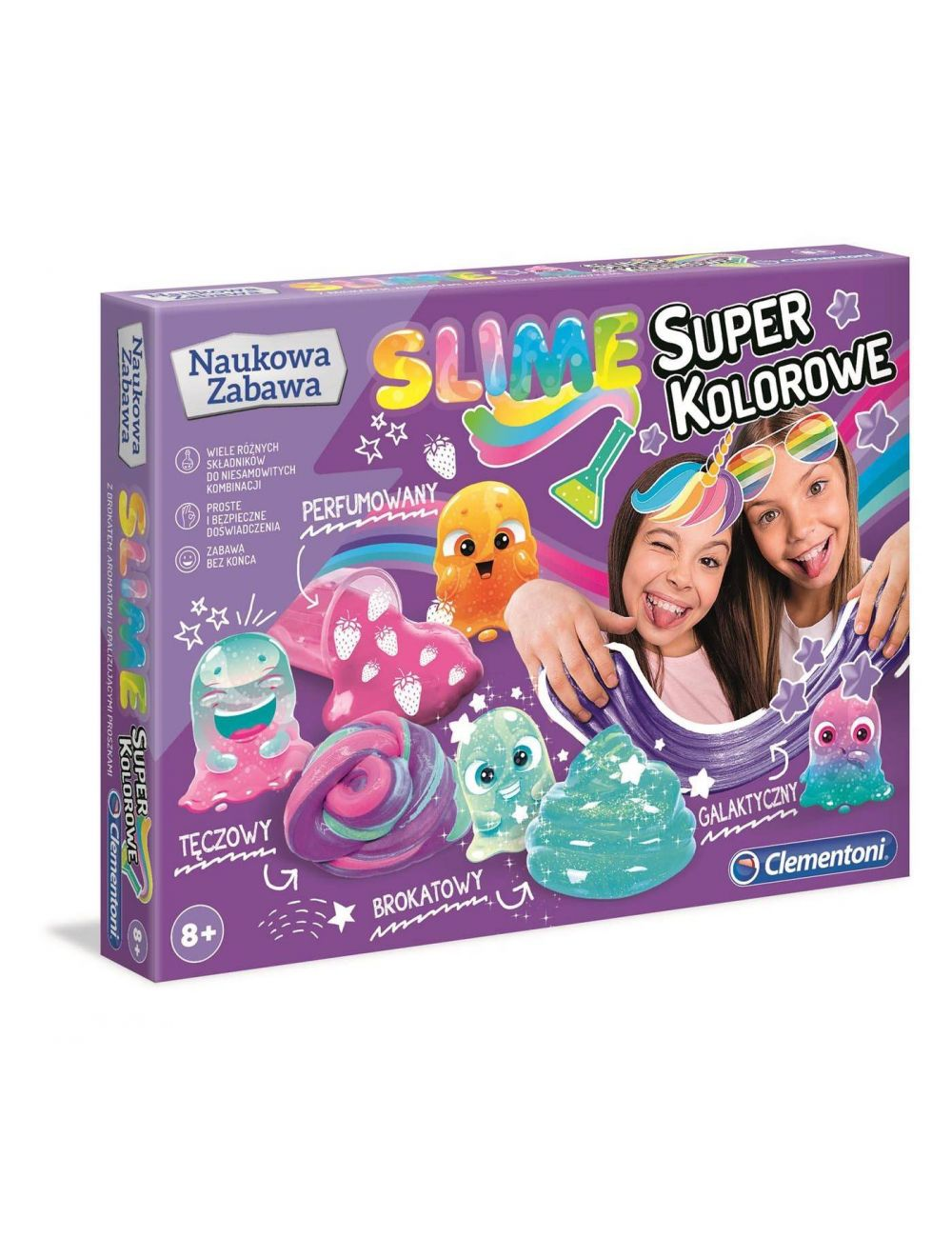 Clementoni Laboratorium Super kolorowe slime 50636