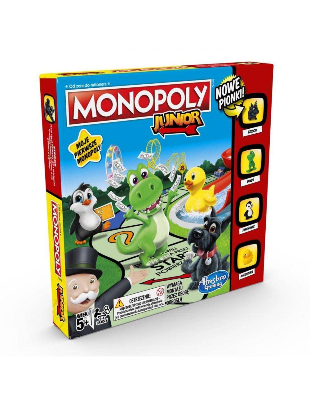MONOPOLY Junior rodzinna gra planszowa