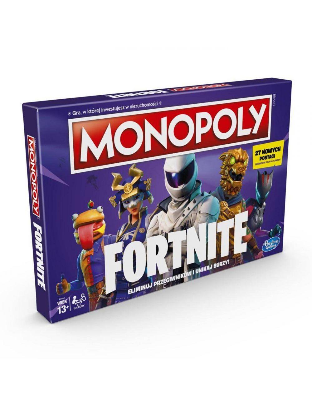 MONOPOLY Fortnite ekonomiczna gra planszowa