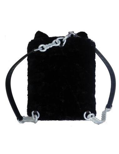 Na!Na!Na! Surprise Plecak sypialnia laleczka Tuesday Meow 3w1 Czarny Kot tył