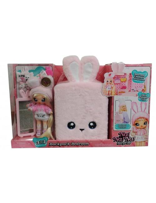 NaNaNa Plecak i laleczka Aubrey Heart różowy królik 3w1 backpack bedroom