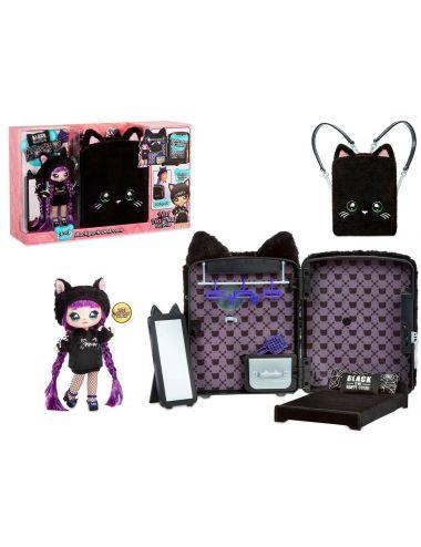 NaNaNa Plecak sypialnia laleczka Tuesday Meow 3w1 Czarny Kot