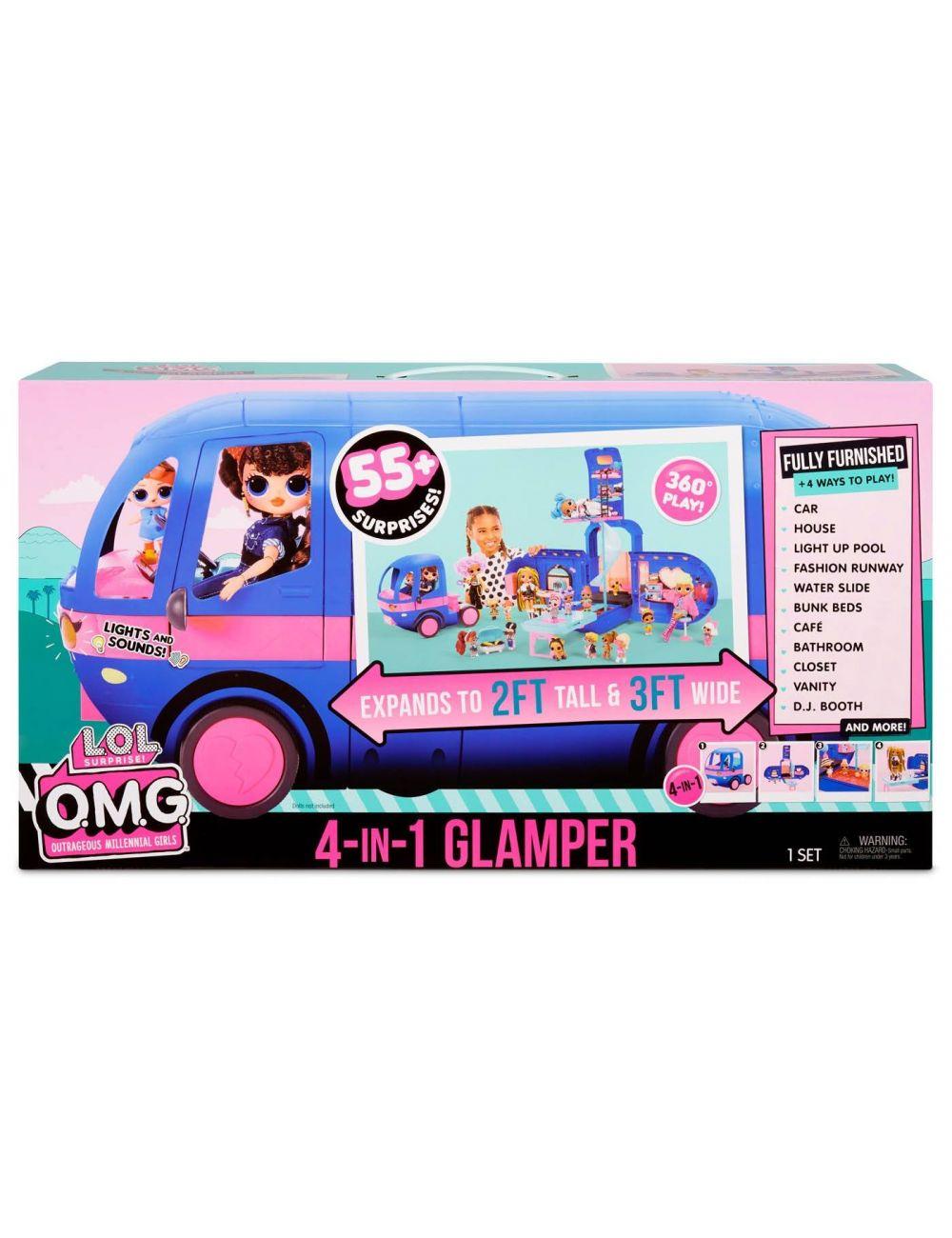 LOL Kamper niebieski Glamper OMG Surprise 4w1 569459