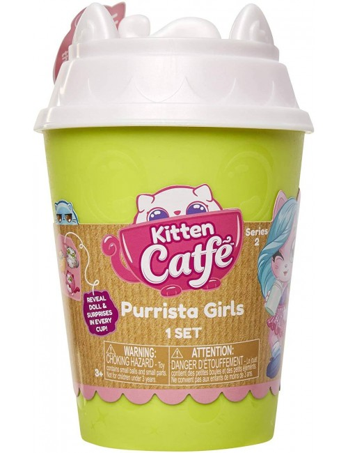 Kitten Catfe Purrista Girls kotek w kubku i akcesoria Seria 2 kubek