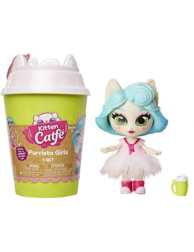 Kitten Catfe Purrista Girls kotek w kubku i akcesoria Seria 2