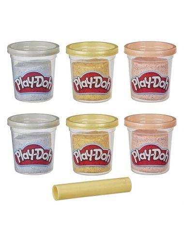 Play-Doh ciastolina 6 tub metalicznych