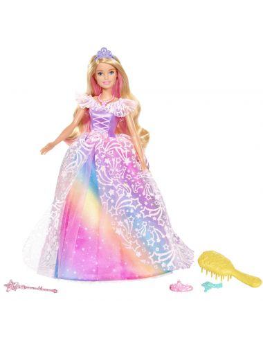 Barbie Lalka Magiczna Księżniczka GFR45 z akcesoriami Dreamtopia