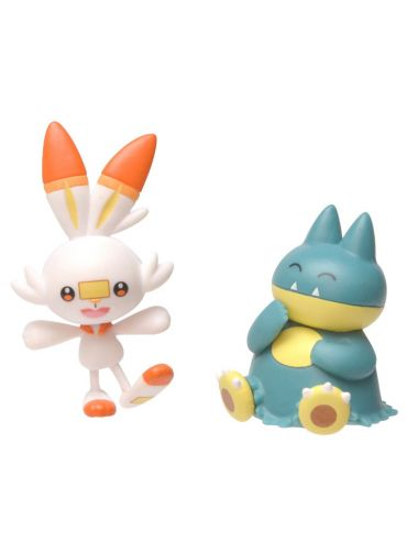 Pokemon Figurki Munchlax i Scorbunny Battle 5cm 97626