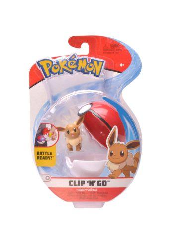 Pokemon Clip'N'Go Pokeball z figurką EVEE 5cm 97649