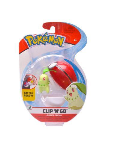 Pokemon Clip'N'Go Pokeball z figurką Chikorita 5cm 97650