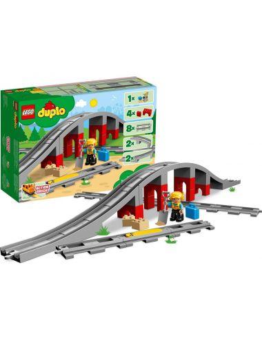 LEGO Duplo Tory kolejowe z wiaduktem 10872