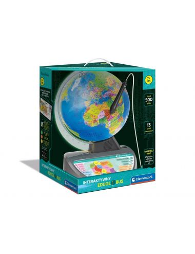 CLEMENTONI Globus interaktywny EduGlobus  50670 500 zagadek