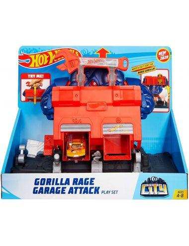Hot Wheels City Warsztat atak Robogoryla garaż GJK89