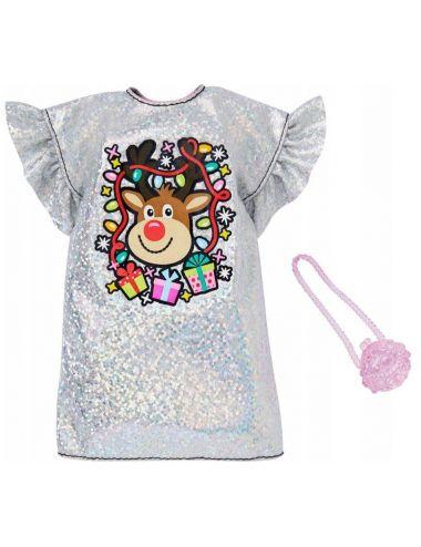 Barbie Świąteczne Ubranko i Dodatki GGG48