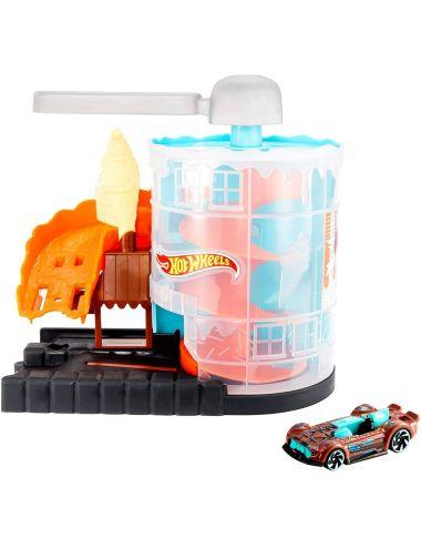 Hot Wheels Zakręcona lodziarnia zestaw z autkiem GDP08