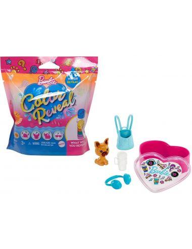 Barbie Zwierzątko Figurka Color Reveal Kolorowa Niespodzianka GPD25 Mattel