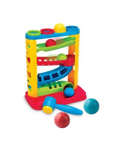 Smily Play Zjeżdżalnia z Piłeczkami i Młotkiem 82933