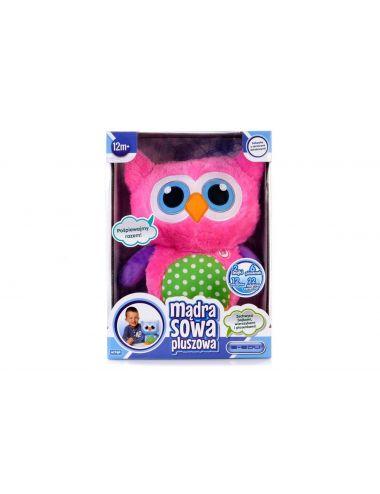 Artyk Mądra Sowa pluszowa różowa zabawka edukacyjna