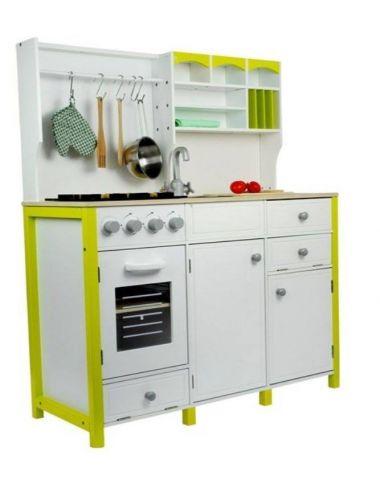Drewniana Kuchnia dla Dzieci zielono Biała 2634